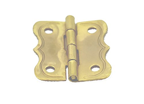 HB-3 FANCY BRASS PLATED STEEL SMALL JEWELRY BOX HINGE - 1