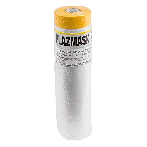 PlazMask Pre-Taped Masking Film, 5-Feet X 65-Feet