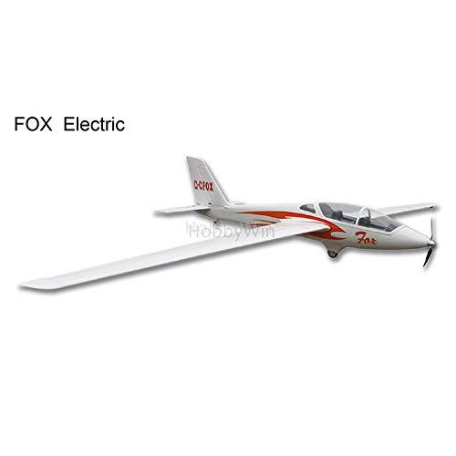 Fox Electric Glider 3000mm ARF with Motor Prop Spinner Esc Servo RC Model Fiberlgass Sailplane