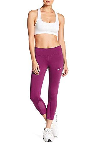 NIKE Women's Dri-Fit Epic Running Crop Tights-Sport Fuchsia-Small ()