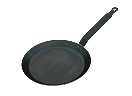 HIC Crepe Pan, Blue Steel, Made in France, 8-Inch Cooking