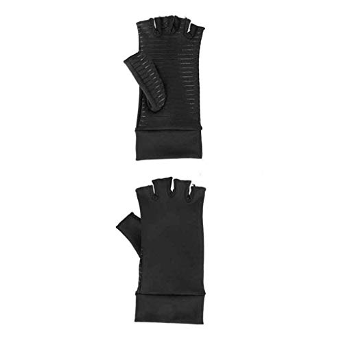 Samoii Compression Arthritis Gloves Fit Carpal Tunnel Joint Pain Brace Arthritis Hand Compression Gloves Hand Gloves Fingerless for Men Women (M) (The Best Carpal Tunnel Brace)
