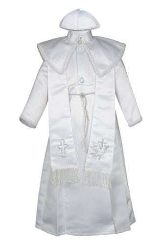 Unotux Baby Boys Christening Baptism Gown Silver Outfits Dove Cross Church 0-30M (1:(6-12 months))