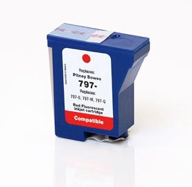 (Ink Now Compatible Cartridge Replacement for Pitney Bowes 797-0, 797-M, 797-Q, Works with : Mailstation K700, K7M0, Mailstation2 (Red))