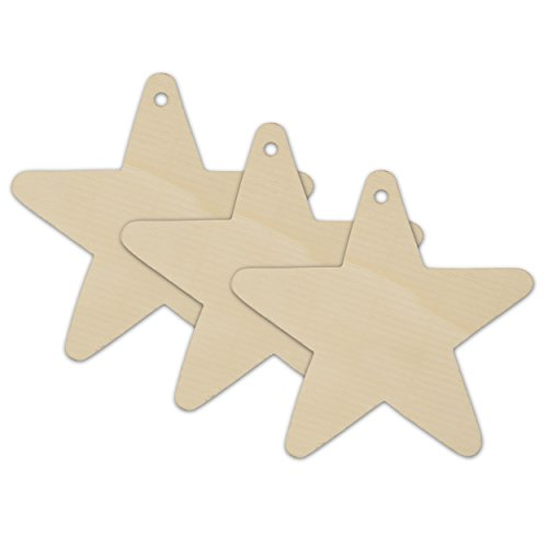 Wooden Star Christmas Tree Ornaments Unfinished - Package of 250- Ready To Be Painted And Decorated - By Woodpeckers by Woodpeckers (Image #1)