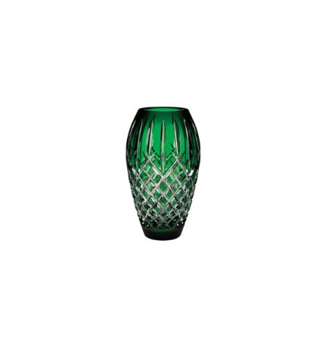 (Waterford Crystal Araglin Prestige Vase Emerald Green 9