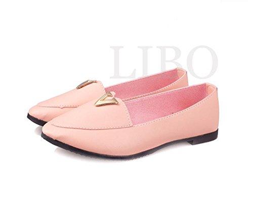 Loafer Ballet Metal Scarpa Rosa Flats A Fashion Sweet Gaorui V Principessa Women Punta xqZzwwnf8