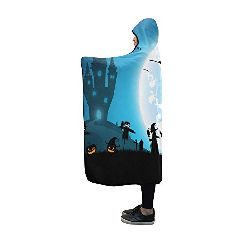 AIKENING Hooded Blanket Blue Festival Halloween Conceptfull Moon