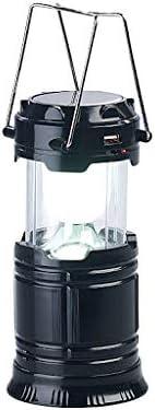 Semptec Urban Survival Technology Lámpara de Camping: Linterna de Camping LED Solar 3 en 1, Lámpara de Mano y Cargador de Emergencia USB, 80 lúmenes ...
