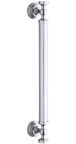 Pewter Bright Parts - Kohler K-705768-SHP Pinstripe 14-Inch Pivot Handle, Bright Polished Silver