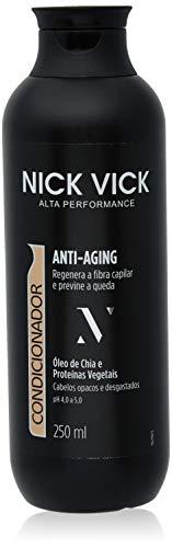 Condicionador Anti Aging Nick Vick Alta Performance 250ml, Nick & Vick, Preto