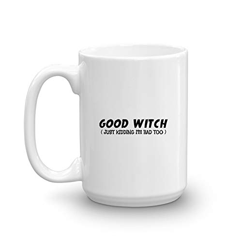 Good Witch Bad Witch Best Friend Halloween Party Duo Couple Funny Gifts Coffee Mug ()