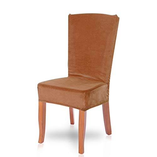 (Drew Toby Dining Chair Covers Soild Color Soft Removable Stretch Restaurant Elastic Slipcover Wedding Party Seat Cover )