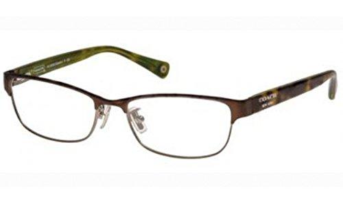 Coach Alyson Eyeglasses HC5033 9128 Satin Brown/Dark Silver Demo Lens 53 16 -