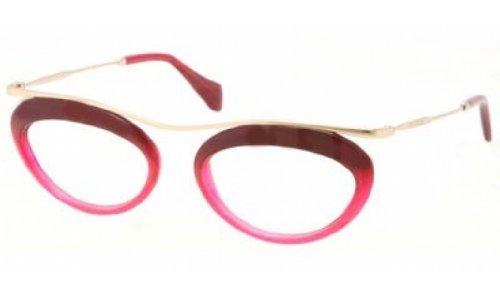 Miu Miu MU56MV Eyeglasses-DG5/1O1 Fuxia/Transparent - Miu 2013 Miu Eyeglasses
