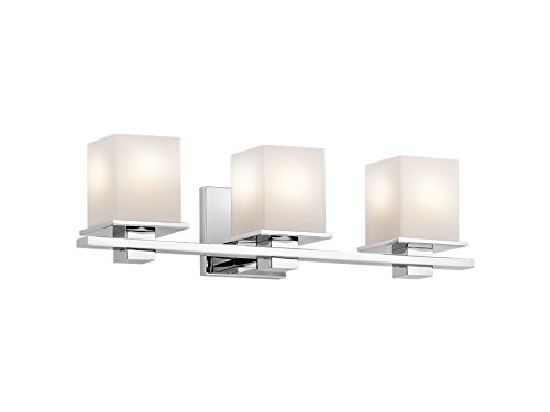 Kichler 45152CH Tully 4-Light Vanity Fixture and Satin Etched Cased Opal Glass, Chrome Finish best
