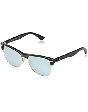Mens 0RB4175 Square Sunglasses, Demi Shiny Black,Light Brown
