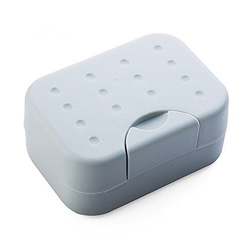 Faber3 Soap Dish with Drain Soap Saver, Easy Cleaning, Dry, Stop Mushy Soap Brand New Travel Soap Dish Box Case Holder (Travel Soap Dish)
