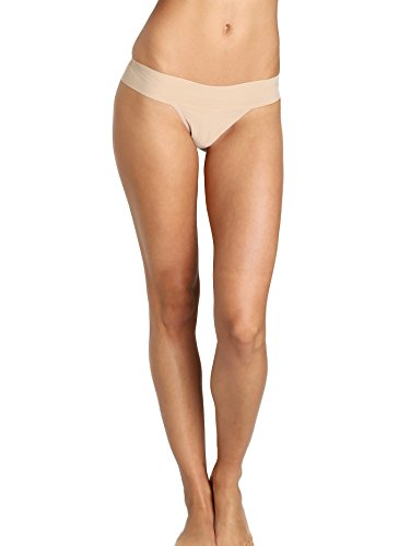 Hanky Panky Womens Hanky Panky Bare Eve Natural Rise Thong, Taupe, Small