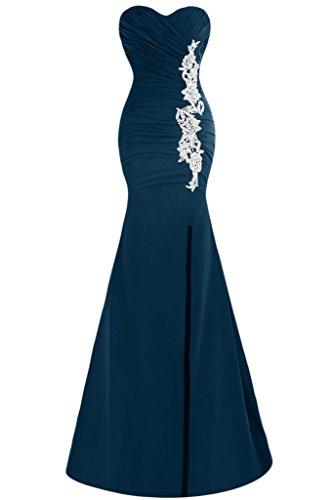 Festkleid Ausschnitt Ivydressing Herz Mermaid Applikation Damen Schlitz Promkleid Tintenblau Abendkleid wxxqPYBR