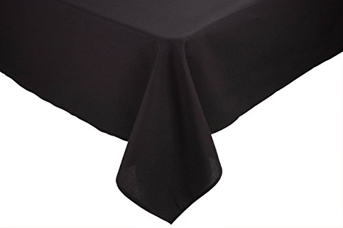 RIEGEL Permalux Cottonblend 54-Inch by 54-Inch Tablecloth, Black (Renewed)