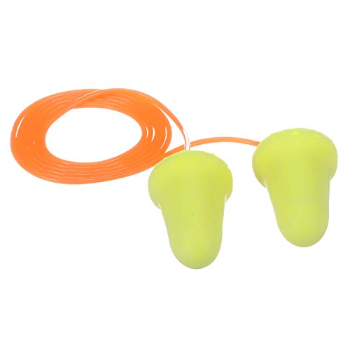 3M E-A-Rsoft FX Corded Earplugs, Hearing Conservation 312-1260 in Poly Bag