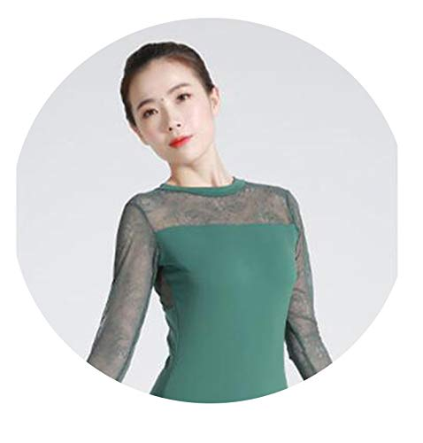 Sexy Open Back Sleeveless Ballet Leotards Adult Girls Lace Long Sleeve Spandex ()