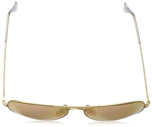 Matte Cyclamen Rb3025 Metal ban Large Gold Aviator Sunglasses Unisex Flash Ray PqwSTf