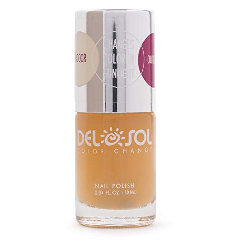 Peek A-boo Color - Del Sol Color Changing Nail Polish, Quick Dry Lacquer that Changes Color in the Sun! 0.5 ounce (15ML) Full Size Bottle (Peek-A-Boo)