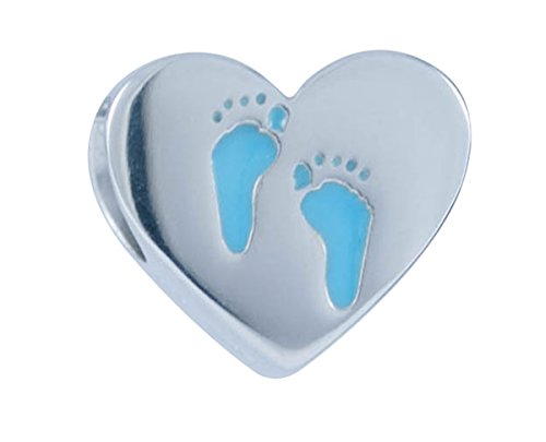 Harley-Davidson Womens .925 Silver Baby Boy Feet Heart Ride Bead