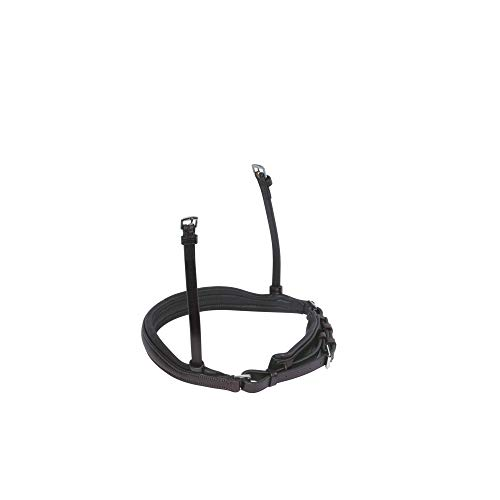 Collegiate Mono Crown Padded Crank Leather Cavesson Noseband (Full) (Brown) ()