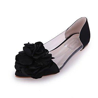 Cómodo y elegante soporte de zapatos de las mujeres pisos primavera verano otros casual sintética soporte de talón otros negro plateado oro negro