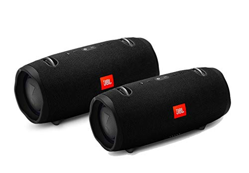 JBL Xtreme 2 Portable Wireless Bluetooth Speakers - Pair (Black)