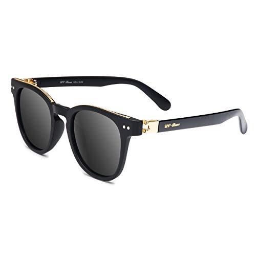 UV-BANS Women Round Sunglasses Tac Polarized UV400 Lens