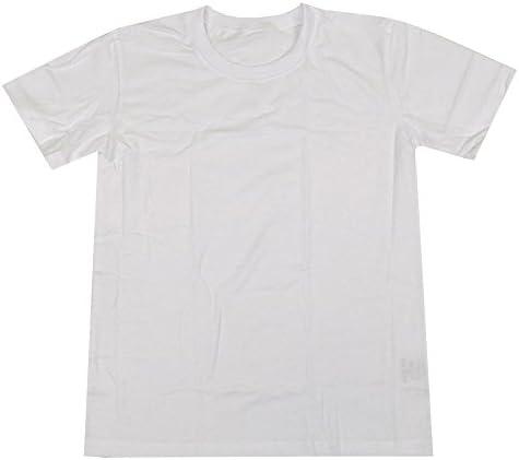スクールTシャツ 無地半袖Tシャツ 体操着 定番 キッズ ジュニア 男の子 女の子 ダンス 子供 fo-tmht78 160cm 半袖白