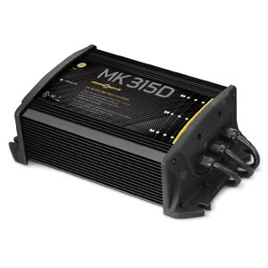 MinnKota MK 315D On-Board Battery Charger (3 Banks, 5 Amps per Bank) by Johnson Outdoors