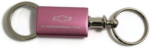 Chevy Chevrolet Camaro RS Pink Valet Key Fob Authentic Logo Key Chain Key Ring Keytag Lanyard