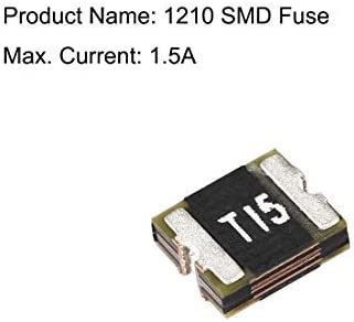 One Time 1210 SMD Fuse Surface Mount Chip Slow Blow Delay Time 72V 1.5A 10pcs