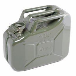 10L/2.68 US Gallon NATO Spec Steel Jerry Can Military (OD) Green with Spout