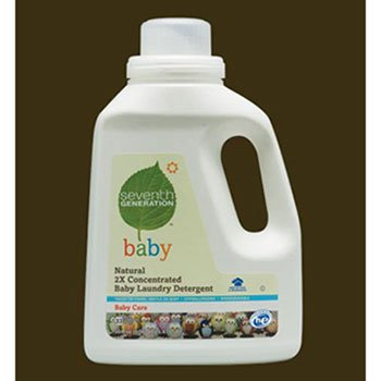 Seventh Generation Natural 2X Concentrated Baby Laundry Detergent, Unscented, 50 oz Bottle - six bottles.