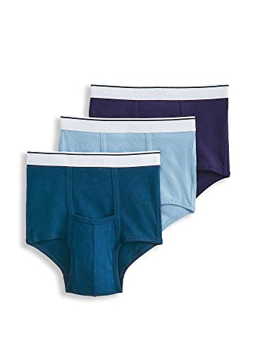 - Jockey Men's Underwear Pouch Brief - 3 Pack, Riverrock Blue/Blue Monday/Feeling Blue, M