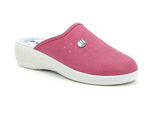 INBLU - Zapatillas de estar por casa para mujer rosa fucsia