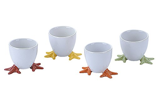 BIA Chicken Feet Egg Cups, Set of 4, Multi-Colour 404150G+883