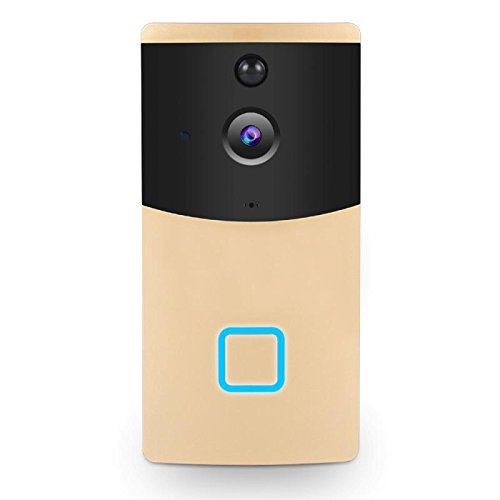 Video Doorbell, SPEATE Wireless Door Bell Smart WiFi Camera Video Doorbell Security Camera with PIR Motion Detection 720P HD, Real-Time Two-Way Talk and Video, Night Vision (GOLD)