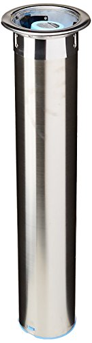 "San Jamar C3400C Stainless Steel In-Counter Horizontal Cup Dispenser, Fits 12oz to 24oz Cup Size, 23-1/2"" Tube Length"