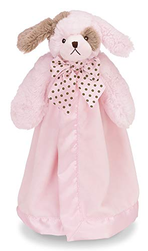 (Bearington Baby Wiggles Puppy Snuggler, Plush Security Blanket, Lovey (Pink) 15