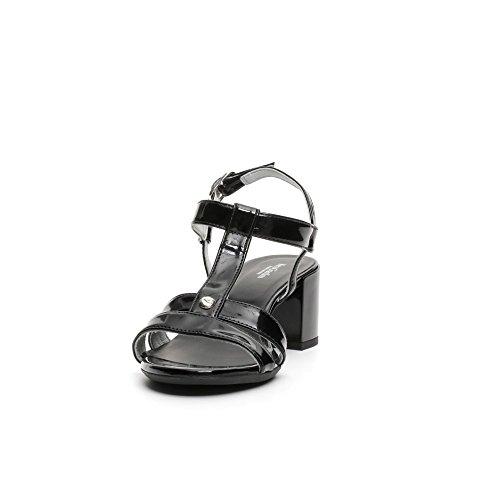 Nero Scarpe Donna 100 Sandali P717610d Pelle Giardini rqqwC
