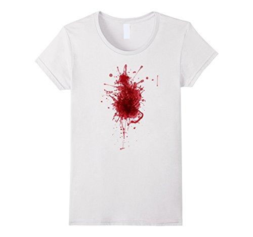 Womens Happy Halloween Blood Splatter Tshirt Costume - Gag Gift Tee Small (Halloween Blood T Shirt)