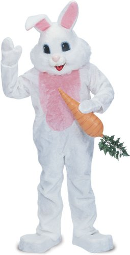 Rubie's Costume Premium Rabbit Mascot Costume White, White, One Size (Adult Easter Bunny Costumes)