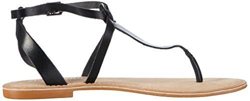 Vero Moda Vmpernille Leather Sandal - Sandalias de dedo Mujer Negro - negro
